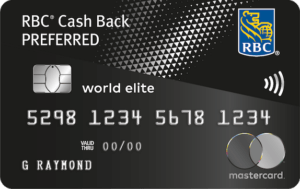RBC Cash Back Preferred World Elite Mastercard