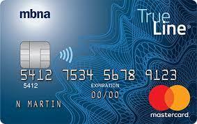 MBNA True Line® Mastercard® credit card